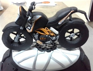 Birthday Cake - Duke Bike  theme