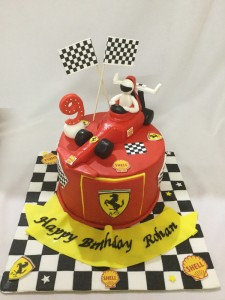 Formula 1 Racing Car Birthday Cake
