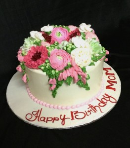 Buttercream Floral Birthday cake