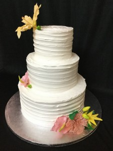 Wedding Cake Fresh cream cake with flowers