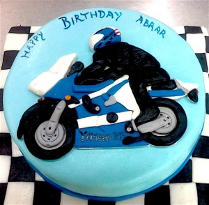Abrar's 2D Bike Birthday Cake