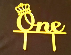 1st Birthday Cake Topper - HBD 005