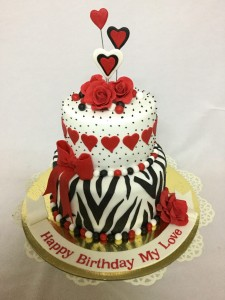 2 tier Birthday for Love cake 2kgs