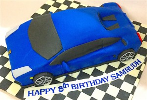 Blue Farrari Car Birthday Cake