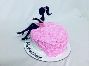 Lady silhouette Birthday cake for HER