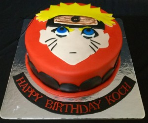 Naruto themed cake 1.5kg