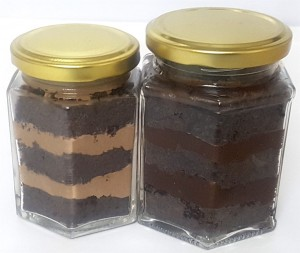 Dark & Light Truffle Cake Jars - 2 Jars