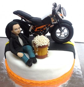 Bike My Passion Birthday Cake