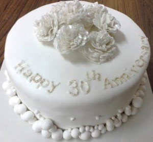 Happy 30th Anniversary Cake