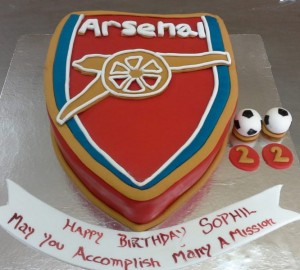 Arsenal Football theme Birthday Cake