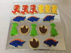 Dinosaur themed Cookies Set of 20