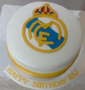 Real Madrid Football Club Birthday Cake