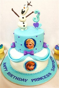Samyuktha's Frozen theme Birthday Cake