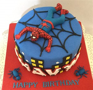 Spiderman Theme Cake 1.5  kg