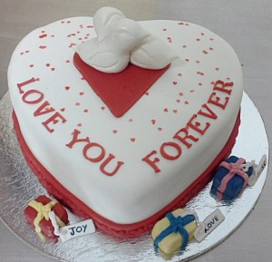 Love 4 Ever Valentine  Cake 1 kg
