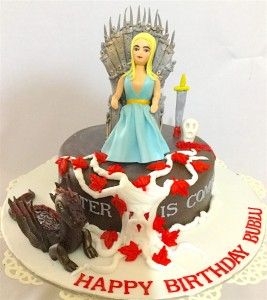 Happy Birthday Cake Khaleesi GOT theme