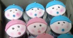 Cute Baby Shower Cup Cakes - 10 nos