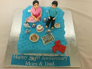Mom and Dad Anniversary Cake