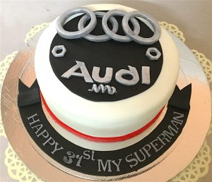 Audi Car Birthday Cake