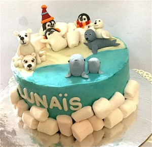 Polar Animals Theme Cake- 1  kg