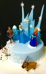 Frozen Land Birthday Cake