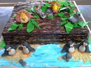 Chocolate Birthday Cake Madagascar theme