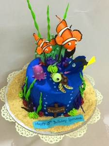 Nemo and Dory birthday cake 1.5kgs
