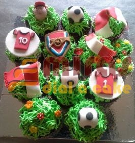 Arsenal Theme CupCakes 10 nos