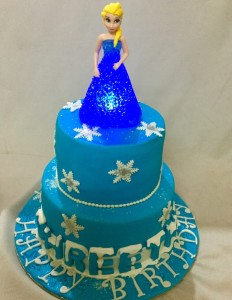 Frozen Elsa Theme Birthday Cake