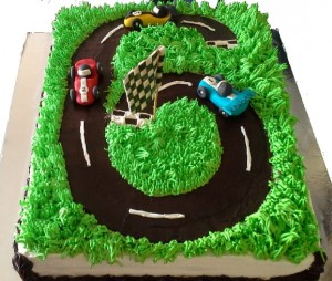 Race Track  Birthday Cake- 1.5 kg
