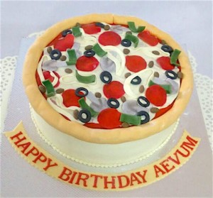 Pizza Theme Birthday Cake