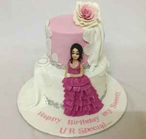 Sweety's 2 tier birthday cake