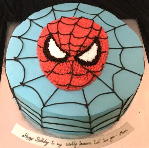 Spiderman Cream Cake 1.5 kg