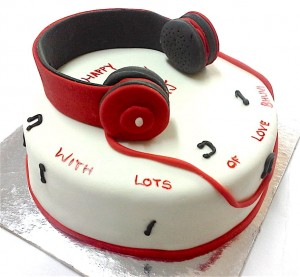 Headphone  Cake 1 Kg