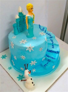Frozen Theme Stairs Birthday Cake