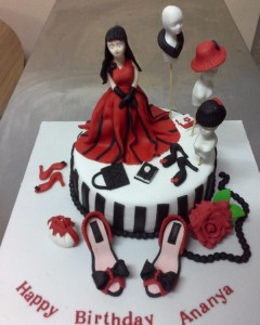 Ananya Fashion Designer Birthday Cake