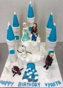 Frozen Castle Theme Birthday Cake