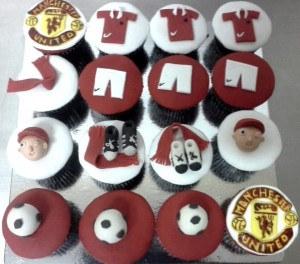 MANU Football CupCakes- Set of 10