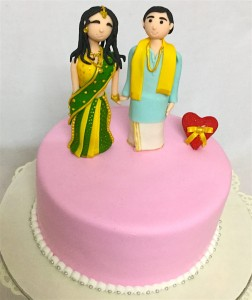 Cute Couple Wedding Cake- 1 kg