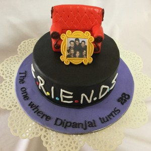 28th Birthday Cake -Friends Theme