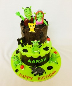 Shrek themed cake 2kgs