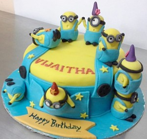 Playful Minion Birthday Cake
