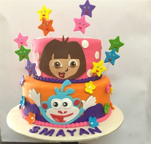 Smayan's Dora Theme Birthday Cake