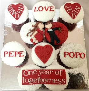 We Together Valentine CupCakes- Set of 10