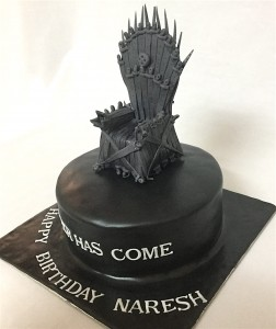 Black GOT Throne Cake 1.5 kg