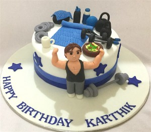 Karthik Gym theme Birthday Cake