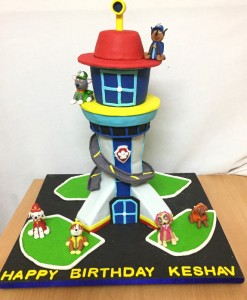Paw patrol tower Customized Birthday Cake