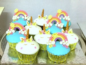 Beautiful unicorn cupcakes- set of 10