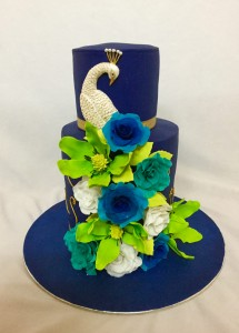 Elegant Peacock wedding cake 3kg