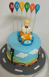 2nd Birthday  Car Cake